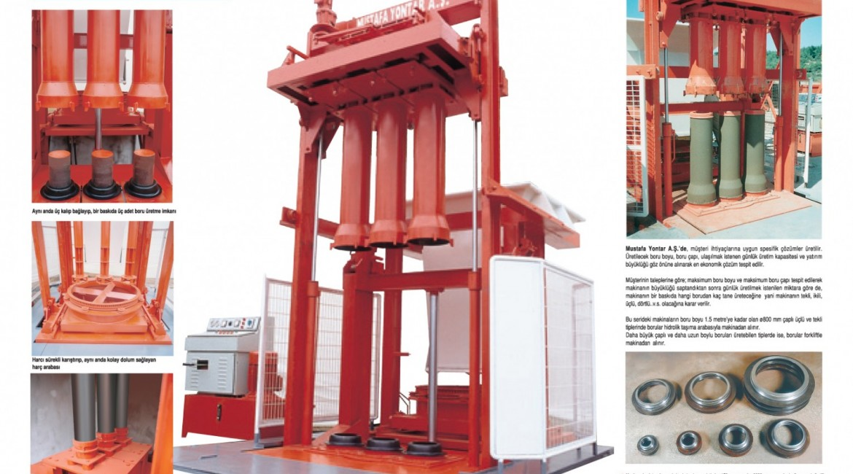 150mm den 3600mm çapına kadar 500mm den 4000mm boyuna kadar beton boruları üretimi